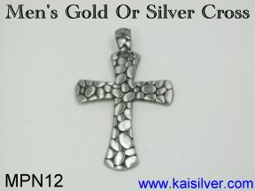cross pendant gold or silver