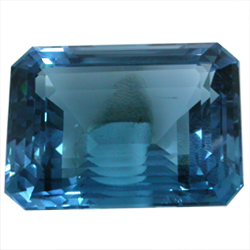 London Blue Topaz Gemstone Octogonal Shape