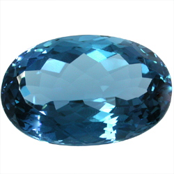 London Blue Topaz Gemstones Oval Shape