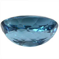 London Blue Topaz Gem stone Oval Side View