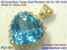 big topaz pendant, large gem stone heart pendants