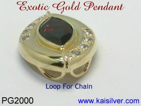 Garnet Gold Pendant