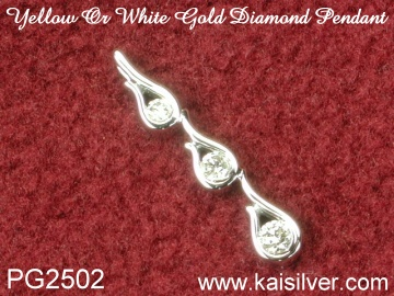 custom diamond pendant, white gold diamond pendant