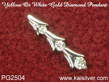18k or 14k diamond pendants