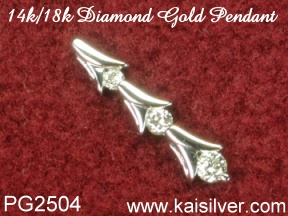 diamond jewellery, white gold diamond pendant made to order