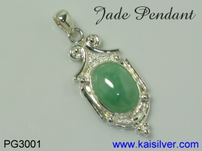 jade pendant in silver or gold