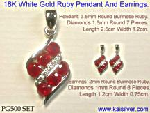 white gold ruby gold pendant