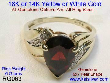 Red garnet ring