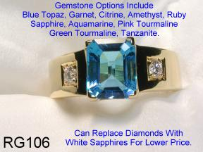 Band Ring With Gemstone