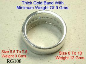 diamond and sapphire band ring in white gold or yellow gold