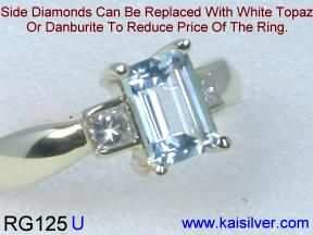 Engagement rings, Aquamarine Diamond