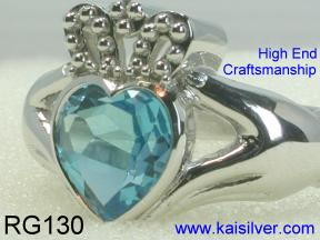 Claddagh Ring Sterling Silver Made To Order