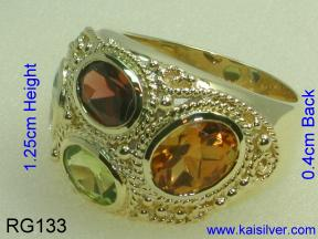 custom ring with all gemstone options