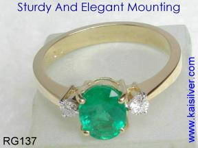diamond emerald rings made to order