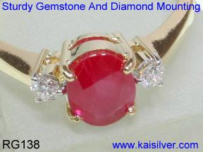 engagement ruby diamond ring white gold or yellow gold