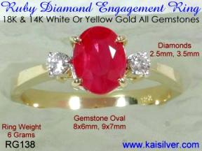 promise ruby gemstone ring