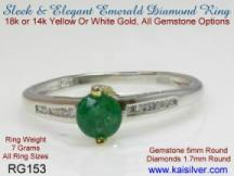 Emerald and diamond rings engagement