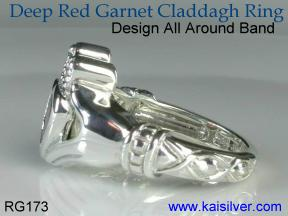 cladagh rings garnet gemstone