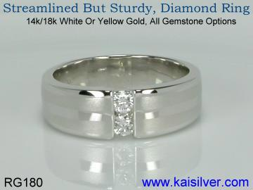 3 diamond ring yellow or white gold