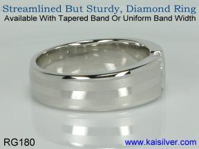 Band diamond wedding