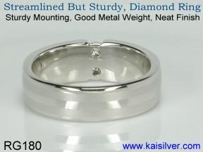 Diamond anniversary band ring