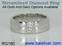 custom wedding diamond band women