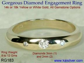 14k or 18k diamond gold rings