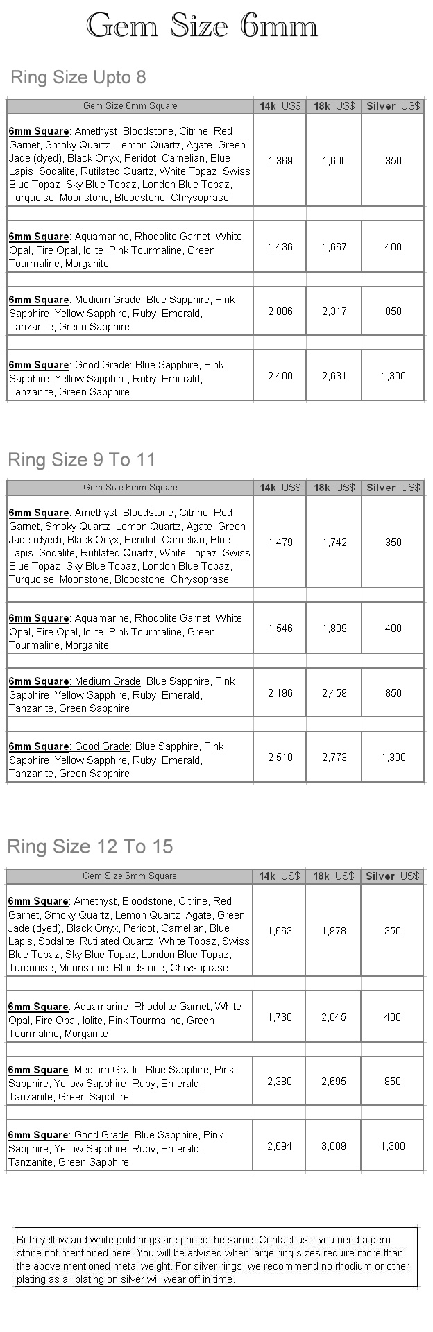 rg184 mens custom amethyst gem stone ring pricing structure