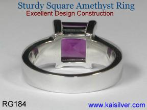 Aquarius birthstone ring