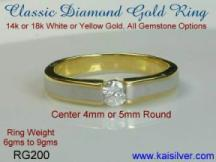 two tone wedding bands custom made