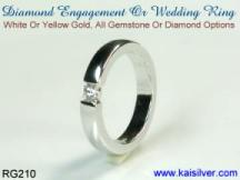 custom diamond man wedding ring