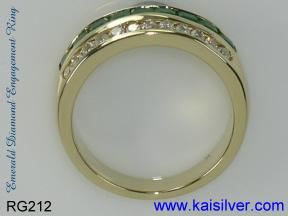 white opal gold ring in white or yellow gold