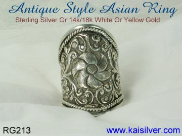 antique ring design in silver or gold
