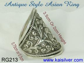 antique jewelry rings in gold or sterling silver