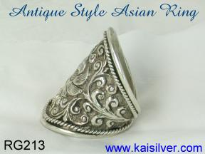 antique silver ring design