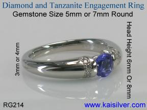 white gold tanzanite diamond engagement rings