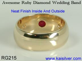 ruby diamond wedding ruby band