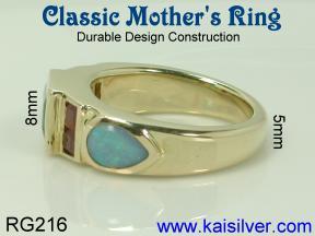 custom mother ring
