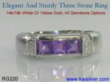 wedding band custom made with gemstones