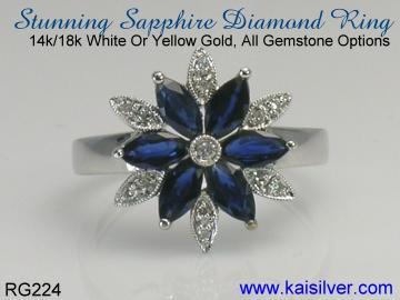 sapphire diamond ring kaisilver