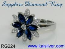 diamond sapphire gemstone ring custom