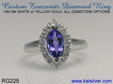 tanzanite gold ring order