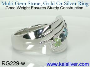 family birth stone ring for mother's day