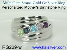 Multi birth stone mother's