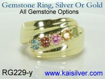 made to order multi gem stone ring