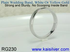 Made to order plain gold wedding bands
