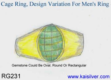 men's cage ring design concept