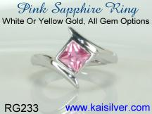 pink sapphire gold ring kaisilver