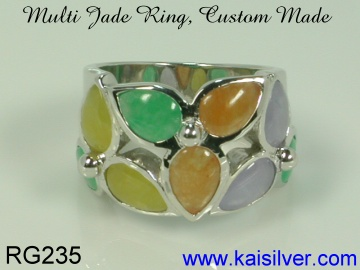 jade gem stone ring