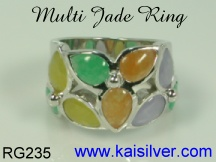 jade gemstone ring silver or gold